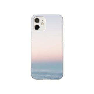 宇宙ステーションで見た朝焼け Clear smartphone cases