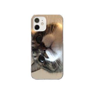 飯をくれと言っているぽんちょ Clear smartphone cases