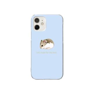 ジャンガリアンハムスター(水色) Clear smartphone cases