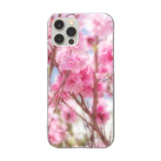 花フォト(八重桜) Clear smartphone cases