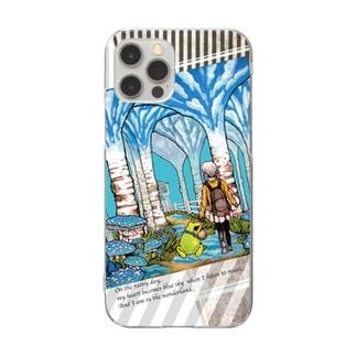 雨の日も音楽で心は晴れる Clear smartphone cases