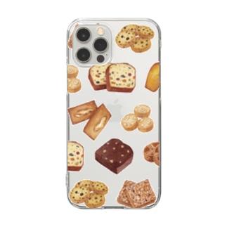 焼き菓子【クリア】 Clear smartphone cases