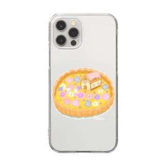 花畑のお家タルト Clear smartphone cases