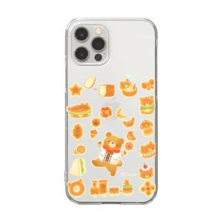ふわふわパン Clear smartphone cases