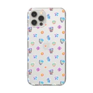 宝石猫◆お月さま★お星さま Clear smartphone cases