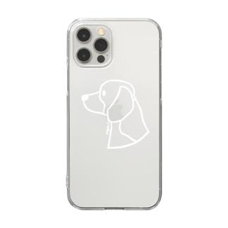 ビーグル〈白線〉 Clear smartphone cases
