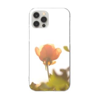 逆光の薔薇 Clear smartphone cases