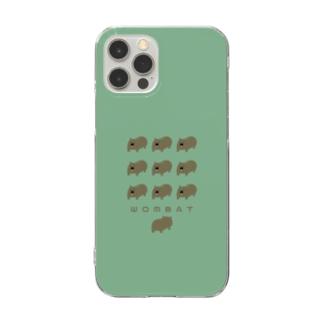 ウォンバットとお尻・ケース Clear smartphone cases