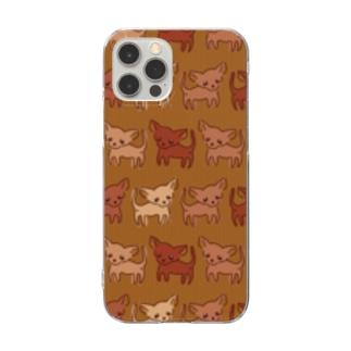 ゆるチワワ(ヴィンテージ) Clear smartphone cases