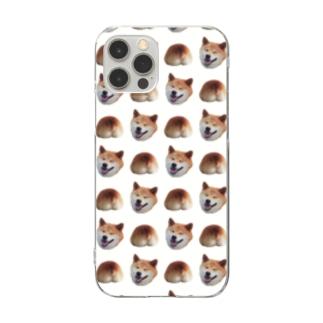 イヌオシリ(背景透過ver) Clear smartphone cases