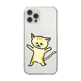 踊るスナネコ Clear smartphone cases