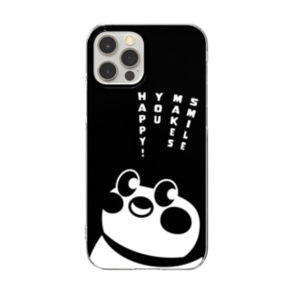 Smile makes you happy♪ Clear smartphone cases
