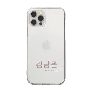 BTS 김남준(キム・ナムジュン)iphoneケース Clear smartphone cases