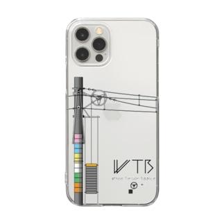 WTBと電柱(高崎エリア) Clear smartphone cases