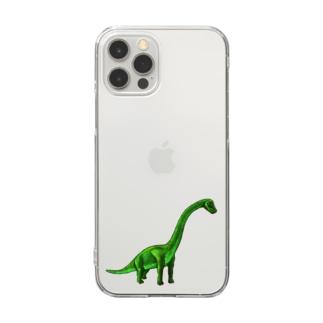 ブラキオサウルス Clear smartphone cases