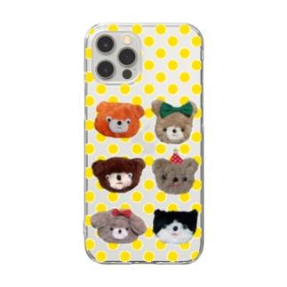 全員悪人(イエロー) Clear smartphone cases