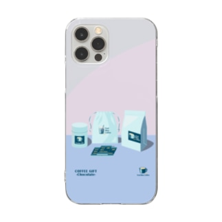 COFFEE GIFT -Chocolate- PURPLE Ver. Clear smartphone cases