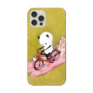 チャリンコぱんだ_スマホケース Clear smartphone cases