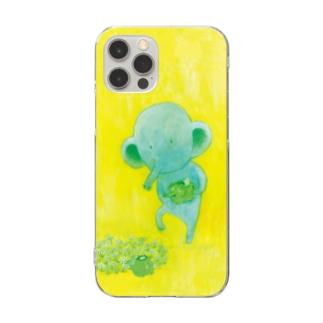 カッパとコゾウ_スマホケース Clear smartphone cases