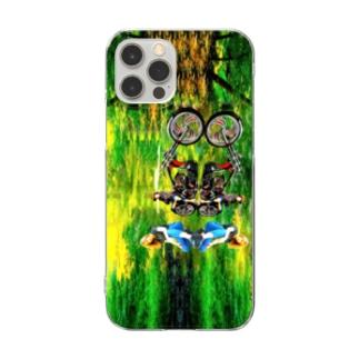 自然、緑、森、林、鏡、女性、バイク、アメリカン、子供、カスタム、改造、パリピ、パンク、ロック Clear Smartphone Case