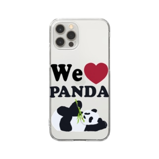 we love パンダ Clear Smartphone Case