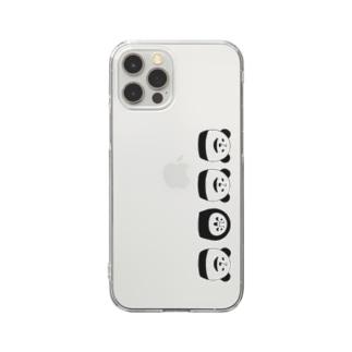 ぱんだるまん12専用その2 Clear smartphone cases