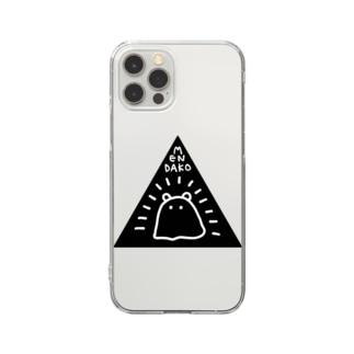 秘密結社メンダコ(black) Clear smartphone cases