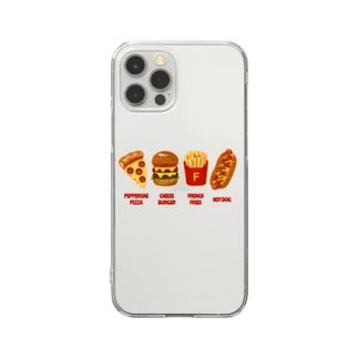 ジャンクフード コンボ Clear smartphone cases