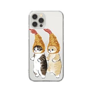 ダブルえび天にゃん Clear smartphone cases