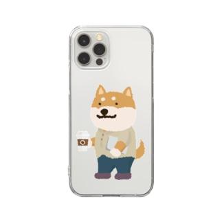 IT柴犬さんとコーヒー Clear Smartphone Case