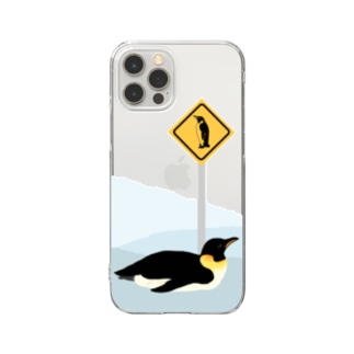 Antarctic sign. Clear smartphone cases
