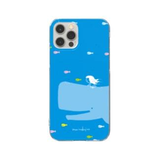 ラクガキモノ:海とくじらとおんなのこ Clear Smartphone Case