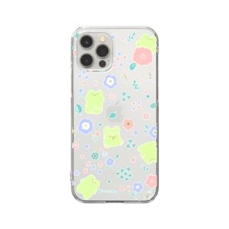 ふろーらるなゆるけろ Clear smartphone cases