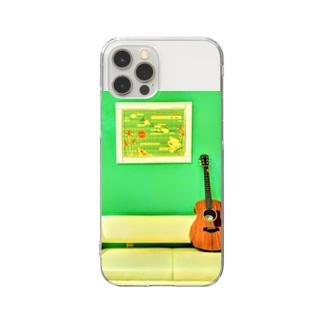 アコースティックギター Clear smartphone cases