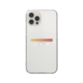【星座グラデ】獅子座/Leo Clear smartphone cases