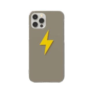 雷 Lightning  Clear smartphone cases