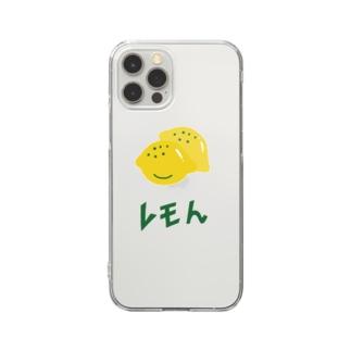 レモン 檸檬 Clear smartphone cases