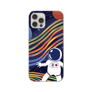 To space Clear smartphone cases