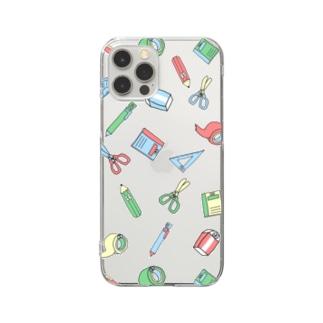 文房具スマホケース Clear smartphone cases