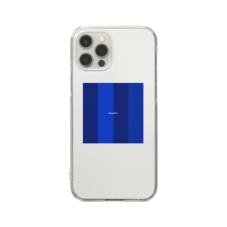 deep blue Clear smartphone cases