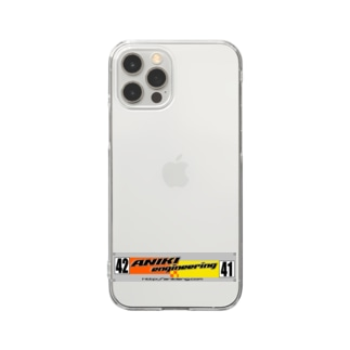 Team「ANIKI ENGINEERING」 Clear smartphone cases