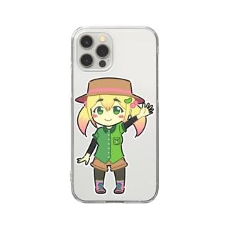 ずんだSUZURI店のずんだちゃんスマホケース Clear smartphone cases
