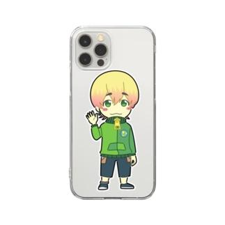 ずんだSUZURI店のずんだくんスマホケース Clear smartphone cases