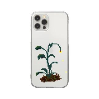 ハナチルザッソウ Clear smartphone cases