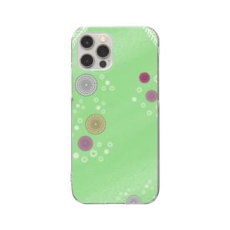謎柄の和風グッズA(若緑) / Japanese style goods A inspired by escape room (Light green) Clear smartphone cases