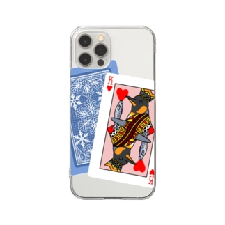 KING(濃色生地デザイン) Clear smartphone cases