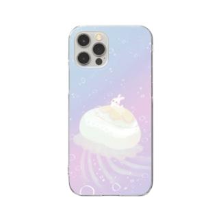 くらげとうさぎ Clear smartphone cases