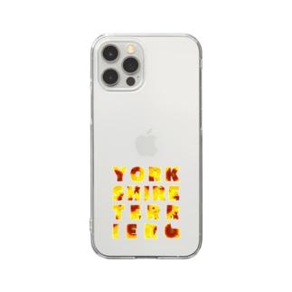 ヨークシャーテリア ひまわり Clear smartphone cases