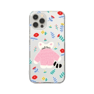 flower cat Clear smartphone cases