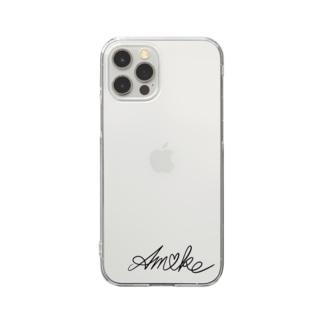 アメイクロゴ Clear smartphone cases